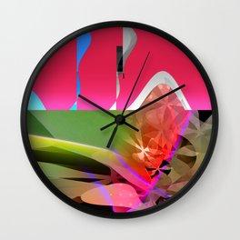 spring asterisk. pink Wall Clock