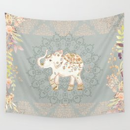 INDIAN ELEPHANT Wall Tapestry