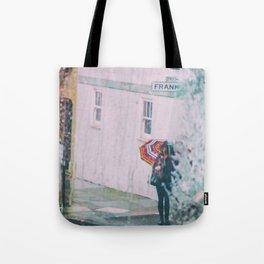 Psychedelic Rains Tote Bag