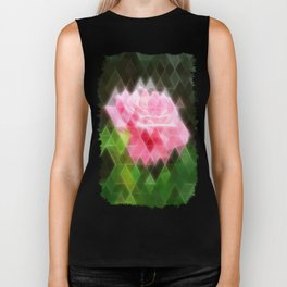 Pink Roses in Anzures 3 Art Triangles 2 Biker Tank