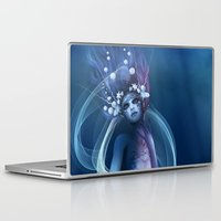 bride Laptop & iPad Skins featuring  Water Bride by Illu-Pic-A.T.Art
