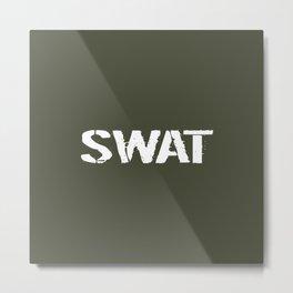 SWAT: Stencil (Green) Metal Print