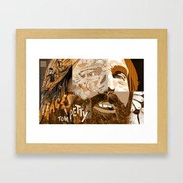 """Faces - Petty"" by Blackard, Boehm, Fiche, Livengood, & McCarthy - Monochrome Framed Art Print"
