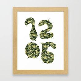 1206 Cammo Framed Art Print