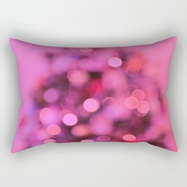 So this is Christmas in pink Rectangular Pillow