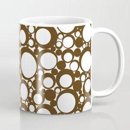 Brown Geometric Abstract Modern Circle Art Coffee Mug