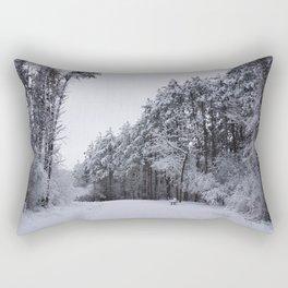 Snowy Path Rectangular Pillow