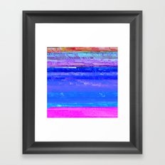 Glitch Forest Framed Art Print