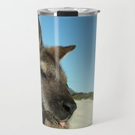 Cheeky kangaroo sticking tongue out Travel Mug