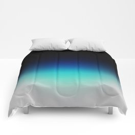 Blue Gray Black Ombre Comforters