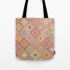 Granny's Millefiori Quilt-Spring Colors Tote Bag