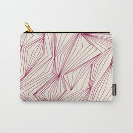 Zig Zag Lines Pink Carry-All Pouch