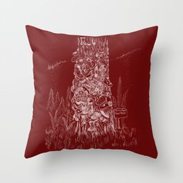 Shoetree in Deep Red Throw Pillow