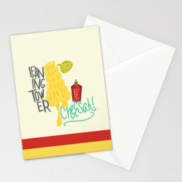 Leaning Tower of Cheesah! Stationery Cards