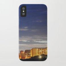 night time beach iPhone X Slim Case