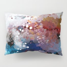 Colorful spots. Abstract grunge fantasy background Pillow Sham