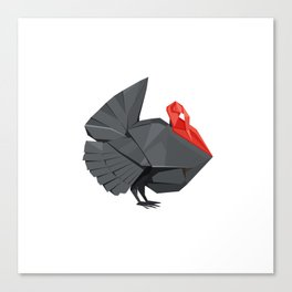 Origami Turkey Canvas Print