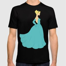Cinderella 2X-LARGE Black Mens Fitted Tee