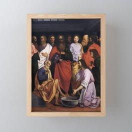 Giovanni Agostino da Lodi - Christ Washing the Disciples' Feet Framed Mini Art Print