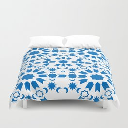 Blue Arabesque Duvet Cover