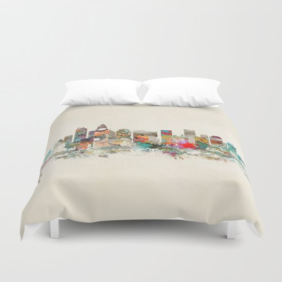 charlotte city north carolina Duvet Cover