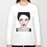 glitch Long Sleeve T-shirts featuring Glitch by Hiba Khan Art