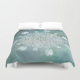 Turquoise Batik Mandala Float Duvet Cover