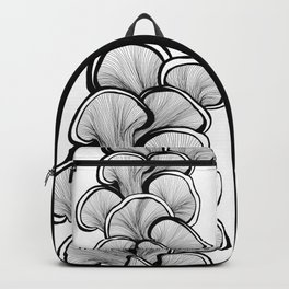 Mushrooms in black and white Backpack