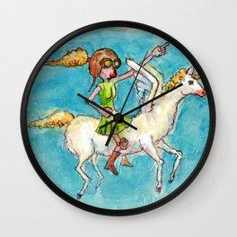 Pegasus Pilot Pattie Wall Clock