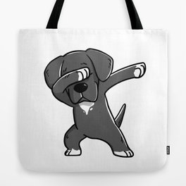 Funny Dabbing Great Dane Dog Dab Dance Tote Bag