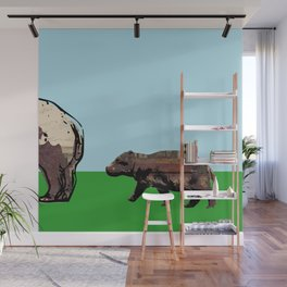 Baby hippo Wall Mural