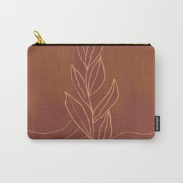 Terra Cotta Leaf Carry-All Pouch