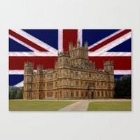 downton abbey Canvas Prints featuring Downton Abbey by MarkDraper