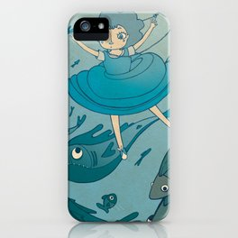 The puddle was an ocean full of fishes iPhone Case