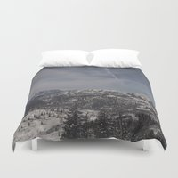 the mountains are calling Duvet Covers featuring The mountains are calling by UtArt