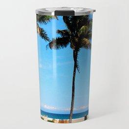 palm beach couple Travel Mug