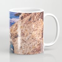 big sur Mugs featuring Big Sur California Cliffs by Bethany Young Photography