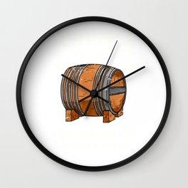 Whiskey Drinker Single Malt Bourbon Wall Clock