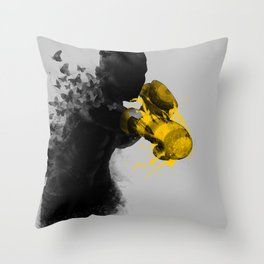 float like butterflies, sting like a bee Throw Pillow