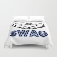 swag Duvet Covers featuring SWAG by Gold Blood