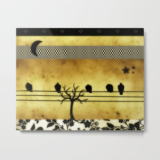 Under The Crescent Moon Metal Print