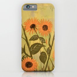 Happy Little Sunflowers iPhone Case