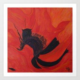 Dancing Poppy Art Print