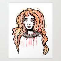 Silence Watercolor Painting by Grimmiechan Art Print