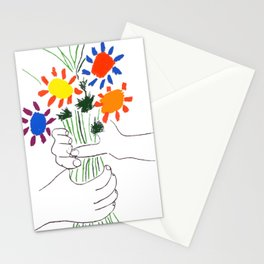 Pablo Picasso Bouquet Of Peace 1958 (Flowers Bouquet With Hands), T Shirt, Artwork Stationery Cards