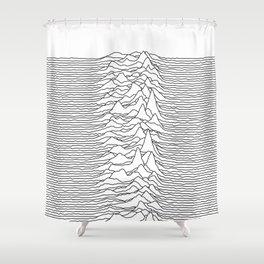 Unknown Pleasures - White Shower Curtain