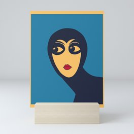 Space woman: are you looking at me? Mini Art Print
