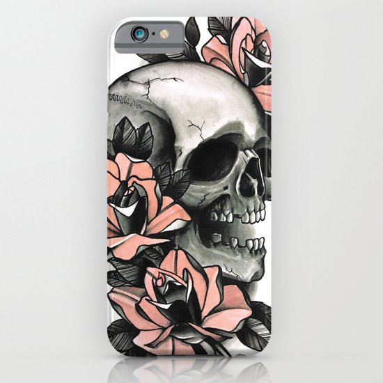 Skull and roses tattoo iphone ipod case by guru society6 for Tattoo artist iphone cases