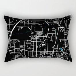 Fayetteville city map black colour Rectangular Pillow