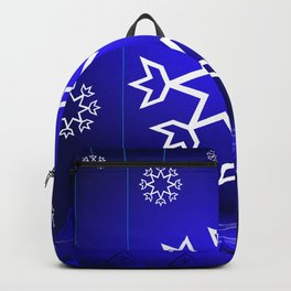 Xmas Blue with snowflake and tipi Backpack